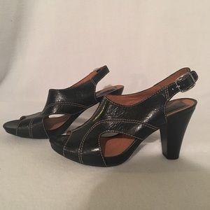 Clarks Black High Heel Sandal